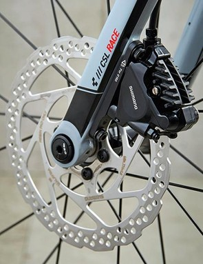 The Shimano hydraulic disc brakes are a real winner…