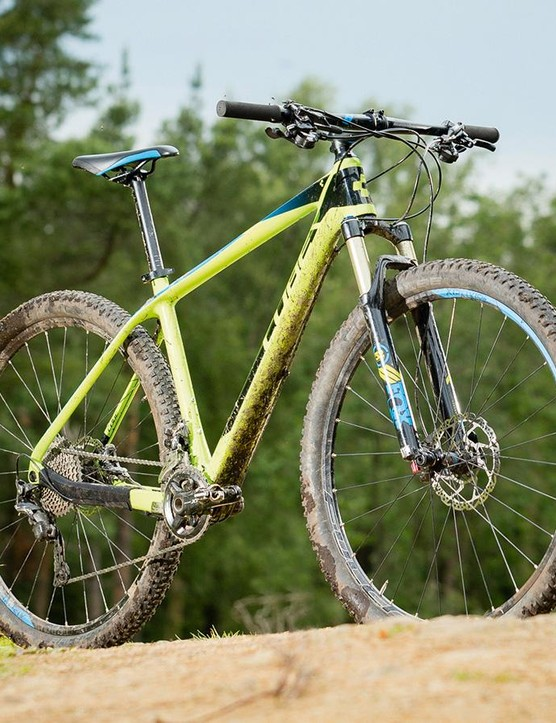 The Reaction's 'GTC Twin Mold' carbon frame isn't the lightest but is efficient under power and rides well in the rough