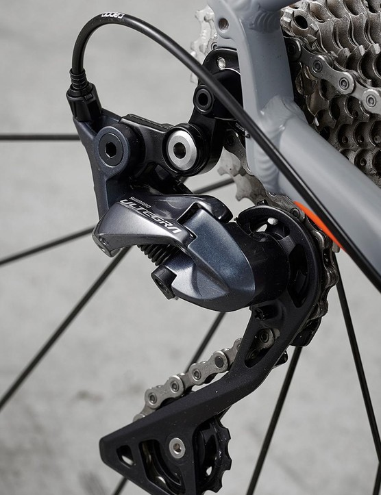 High-spec Shimano Ultegra R8000 gearing is great for the price