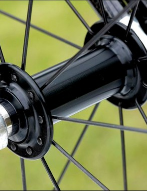 Smooth-running cartridge bearing hubs are borrowed from the Campagnolo Mirage groupset