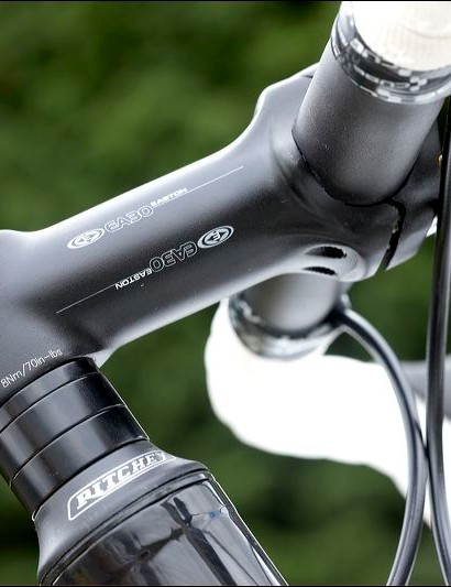 We selected a slightly longer than average stem for the 56cm version tested to compensate for a shorter than average (54.5cm) top-tube.