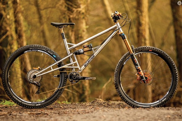 Those hand-polished tubes and Brian's immaculate fillet brazing made me feel guilty about getting the Curtis dirty, but the tubular artistry really comes alive on the trail
