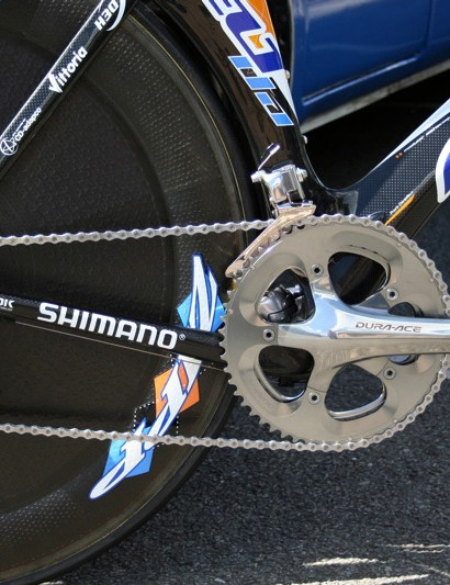 Garmin-Chipotle uses Shimano groupsets on both its road and time trial bikes.