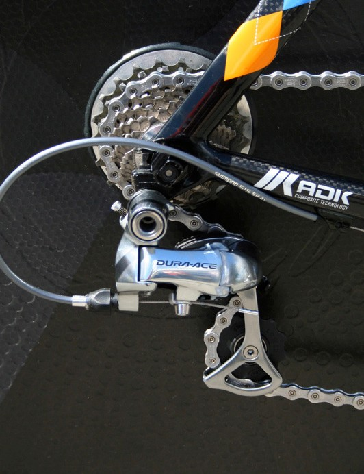 The Dura-Ace 7800 rear derailleur will be a thing of the past at this level before long as the new version is rolled out.