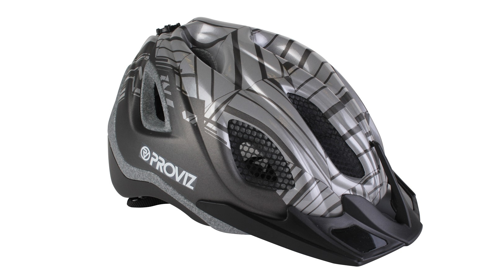 Without a direct light source the reflective part of the helmet shell appears a casual shade of grey