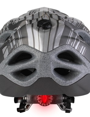 The helmet's retention dial also doubles up as a rear lamp