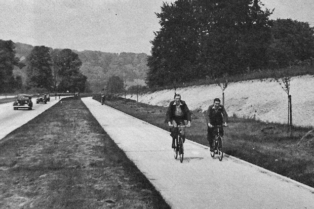 Cycle track near Dorking, Surrey