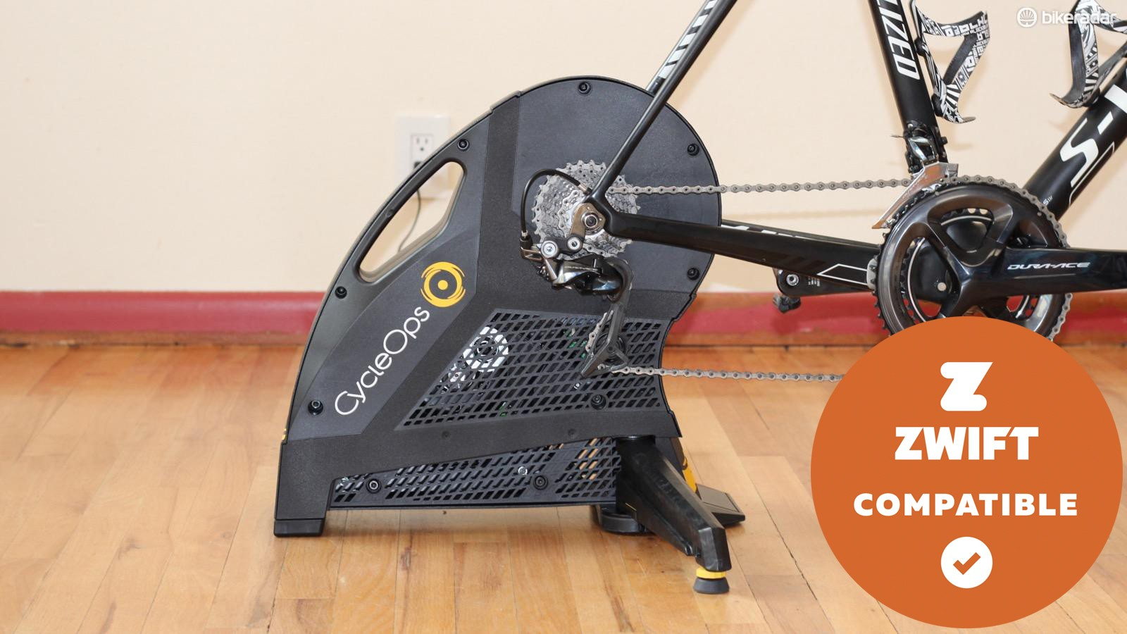 The CycleOps Hammer direct drive smart trainer is an excellent companion for Zwift or TrainerRoad