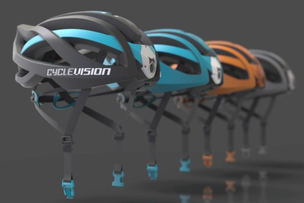 The Cyclevision helmet goes on sale this summer
