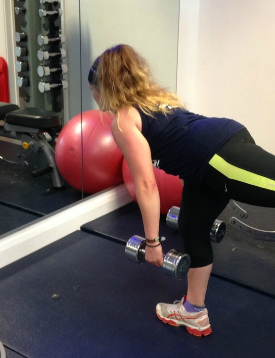 This move works your core muscles and helps with balance and coordination too