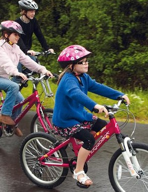 Traffic-free paths and trails are ideal learning grounds for children to develop their bikehandling skills