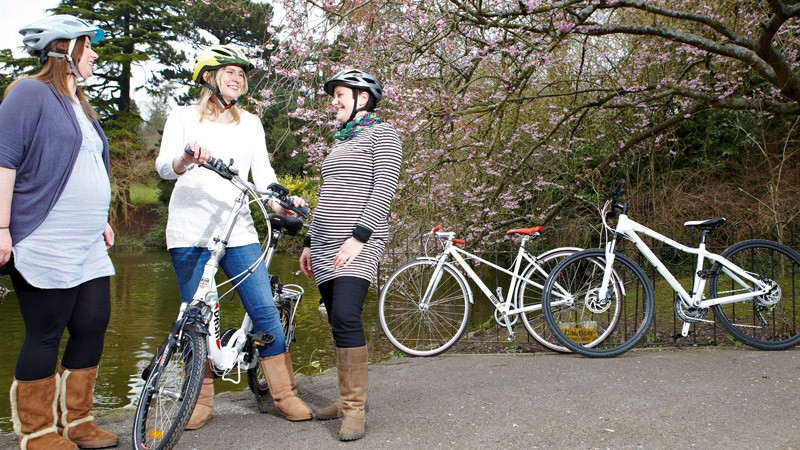 Cycling while pregnant can be a good form of exercise