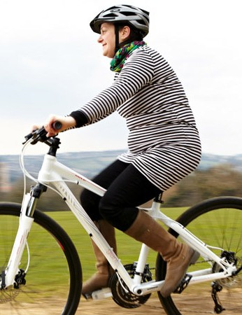 Cycling while pregnant can be beneficial to mum and child