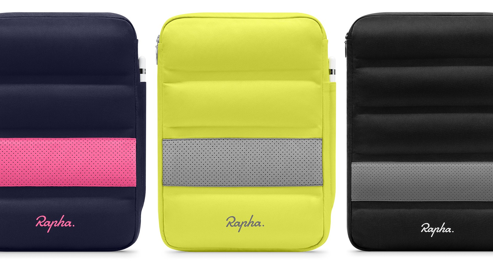 Rapha has protective sleeves for iPads and MacBooks in various sizes