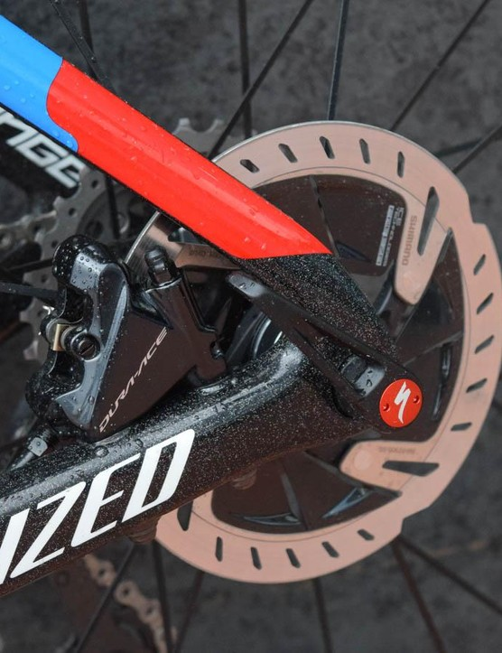 This the first time Shimano disc calipers have earned the right to wear actual groupset branding, rather than being classed as non-series parts