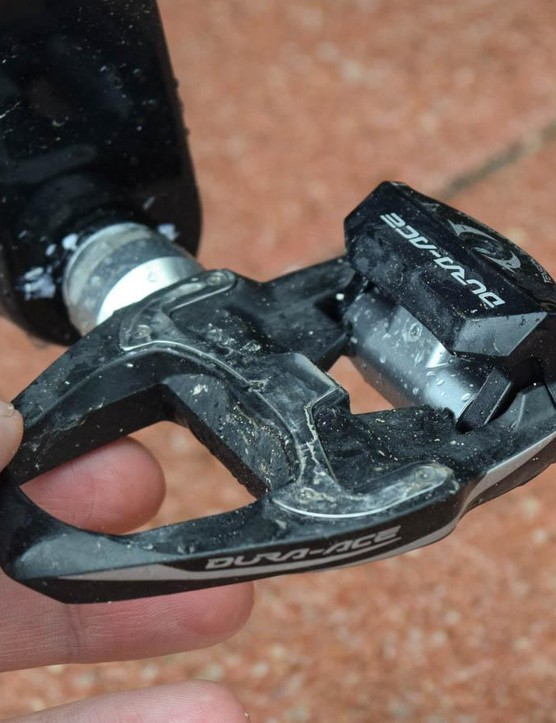 The 9100 pedal is, of course, lighter and stiffer than its predecessor, but we were riding 9000 pedals
