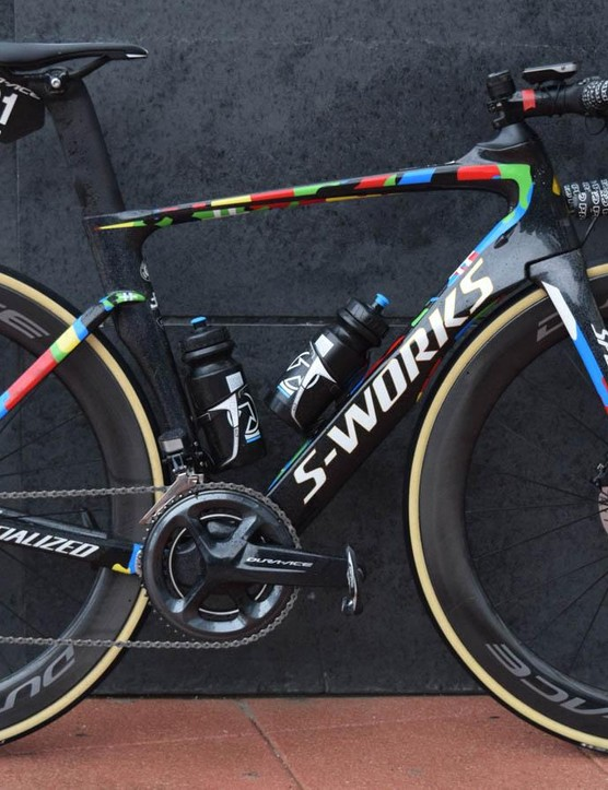 The S-Works Venge Disc in Peter Sagan colours is quite the testbed