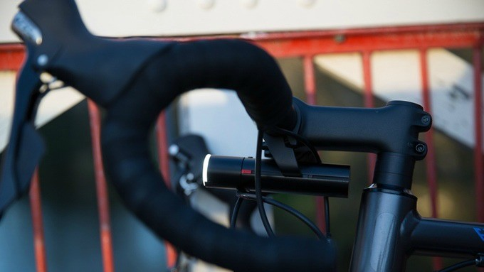 The PWR lights can be mounted over or under your stem