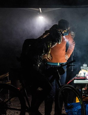By the middle of the night on a 24hr race it's all about lights and fuel