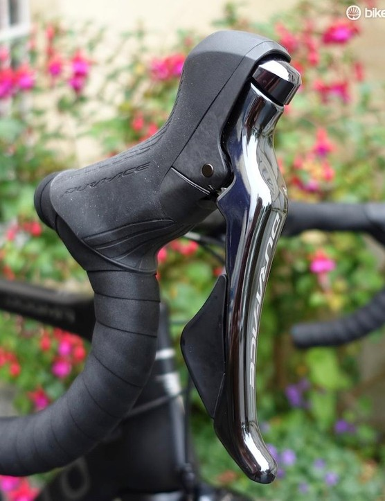 The new shifters have slightly updated ergonomics that include a larger rearward paddle