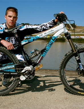 Dan Atherton, looking tough with his Commencal.