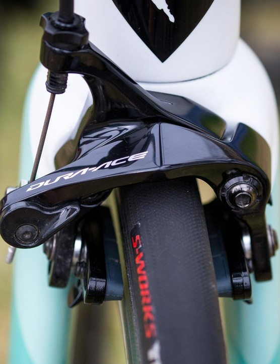 The new Tarmac features direct mount brakes