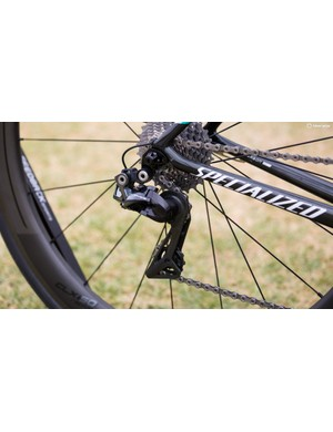 At the back is the stealthy looking Dura-Ace R9150 rear derailleur