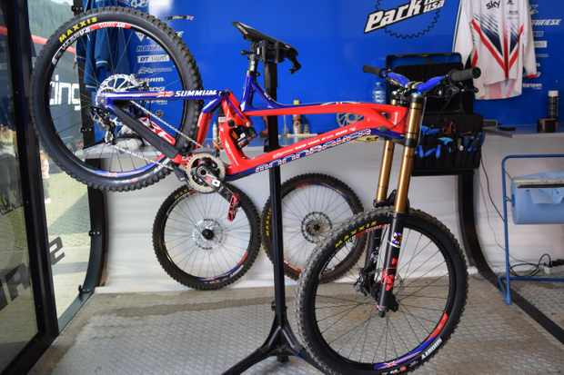 Danny Hart's rig for the World Champs