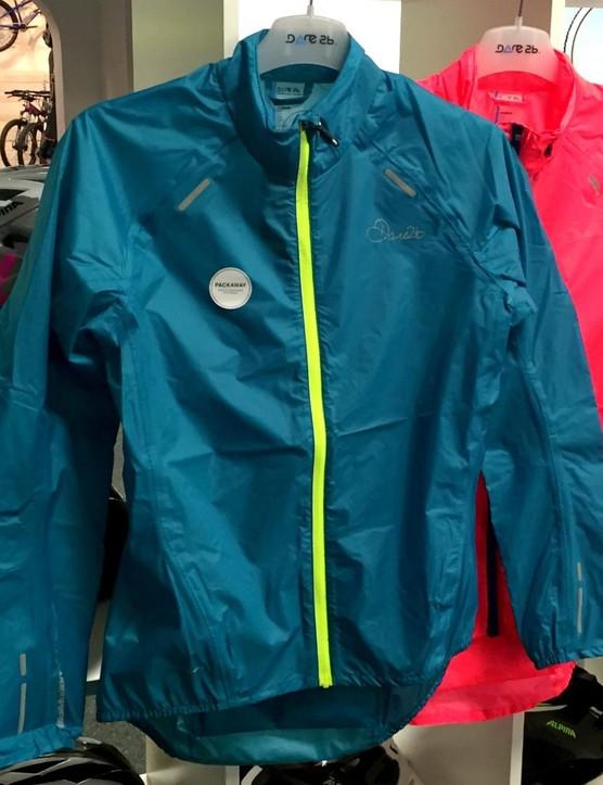 The women's Ensphere jacket from Dare2B is a light, packable waterproof