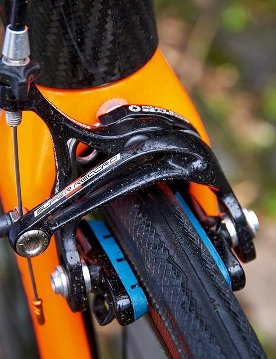 Campagnolo Super Record rim brakes scrub off speed