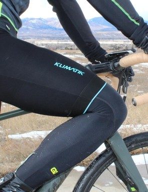 Alé's Klimatik bib shorts combine thermal fabric with some water deflection