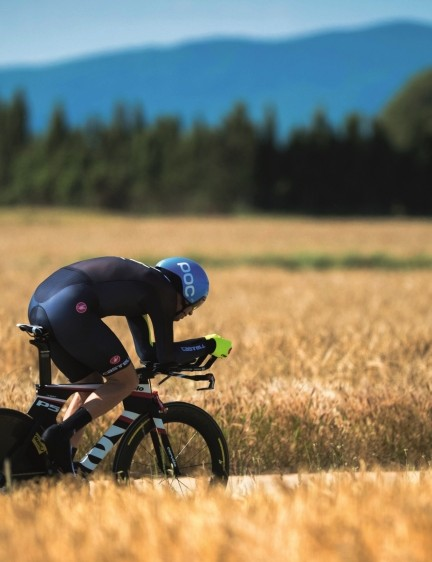 Riding alone against the clock – where Millar feels most at home