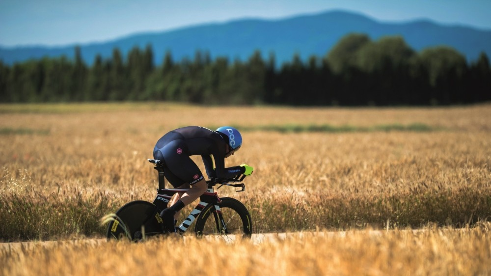 "David Millar's TT System begins with finding the correct position to ""hide"" from the wind"