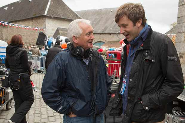 Journalist David Walsh talks to actor Chris O'Dowd who plays him in film The Program