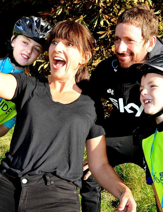 Davina McCall has completed a number of impressive cycling challenges