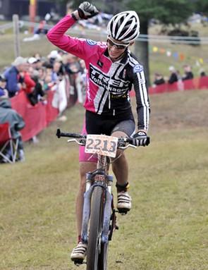 Lea Davison wins the women's Fat 40 division.
