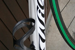 The Cento Uno has a large section down tube that changes from a square section up front to much more rounded at the bottom bracket.