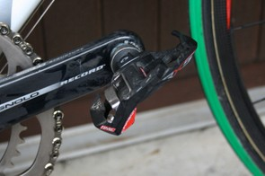 Cunego uses Time's latest RXS Carbon pedals but has the steel spindled versions rather than the slightly lighter titanium ones.