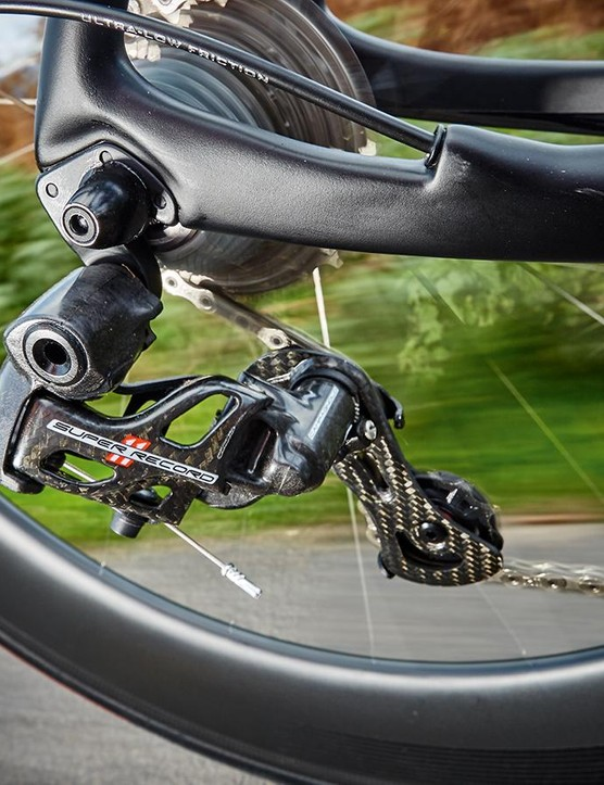 Campagnolo's 11-speed Super Record – the shifting is as good as you'll get from any mechanical gear system