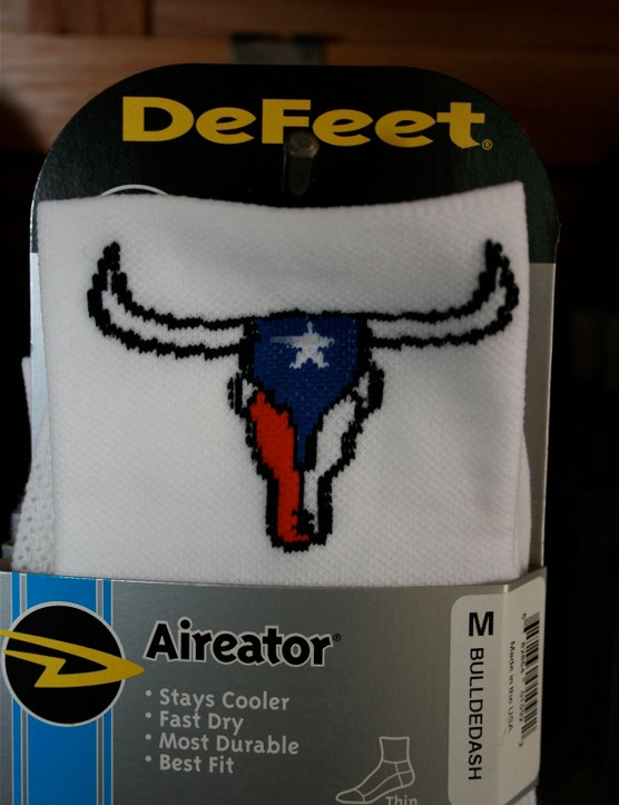 Defeet socks, Texas style.