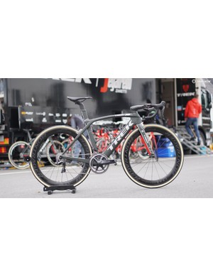 Trek-Segafredo's John Degenkolb has custom new Aeolus XXX wheels for his Trek Madone, but he is riding a special Madone for the Tour of Flanders