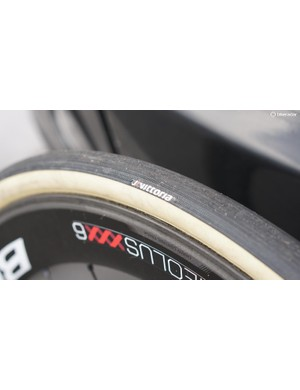 Degenkolb has 28mm Vittoria tubulars for Flanders, and 30mm tubies for Paris-Roubaix, which he won in 2015