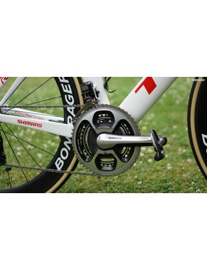 Trek-Segafredo is using the older 9000 Shimano SRM because there is not a 9100 SRM