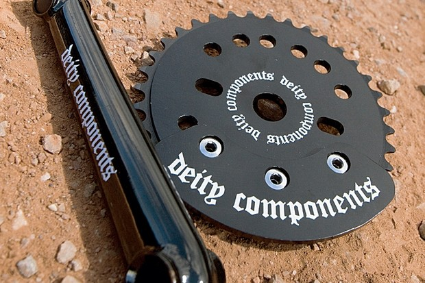 These cranks feature a Euro bottom bracket.