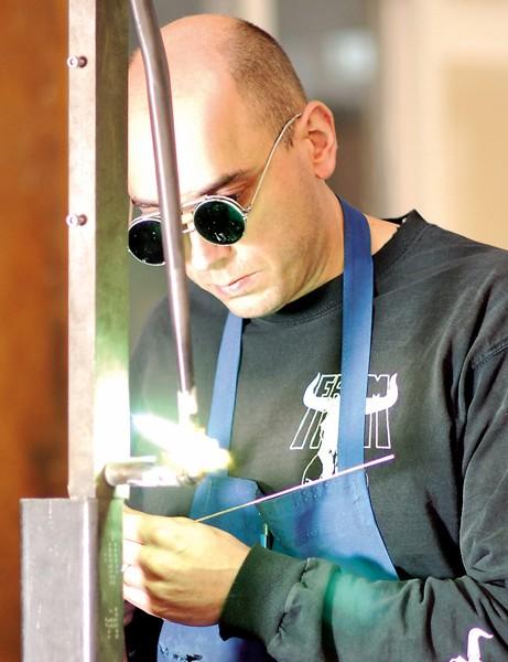 Chris Dekerf at work