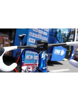 Arnaud Démare's new PRO Aero Vibe handlebar at the start of stage 4 of the 2017 Tour de France