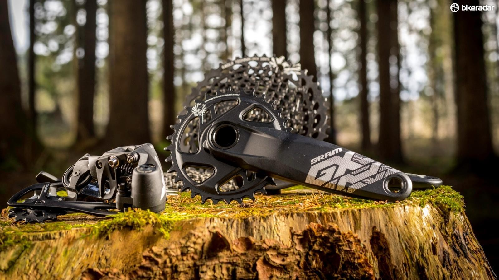 The GX Eagle group brings the 500-percent range of SRAM's premium 12-speed groups to the masses