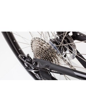 There's an 11-36t cassette to give you a wide choice of gearing