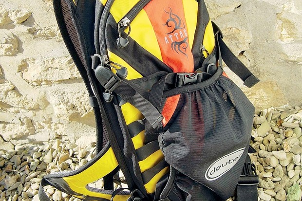 The Attack hydration pack is extremely comfortable to wear.
