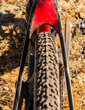 Stock Hatchet's come with fast-rolling Maxxis Re-Fuse tires, though WTB's 700x40c Nano was a better candidate for our mixed-surface proving grounds